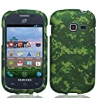 For Straight Talk Net10 SAMSUNG Galaxy Centura SCH-S738C Hard Case Green Camo