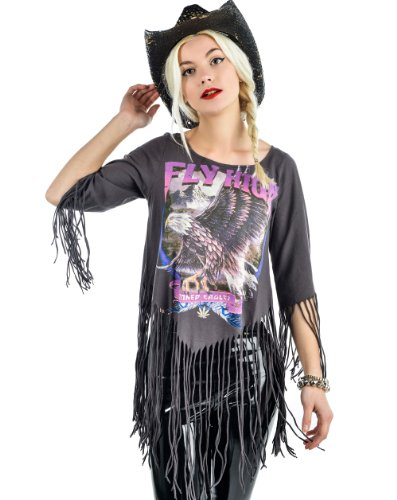 Rat Baby She Devil Fringe Top - Fly High