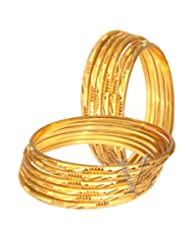 Venus One 22crt Gold Plated Bangle Set Of 12