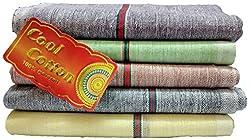 Fancyadda Men's Khadi Cotton Handkerchiefs (Pack of 5, Multi-Colored)