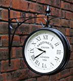 About Time Paddington Station Weather Resistant Double Sided Garden Outdoor Wall Clock - 26cm (10.4in)