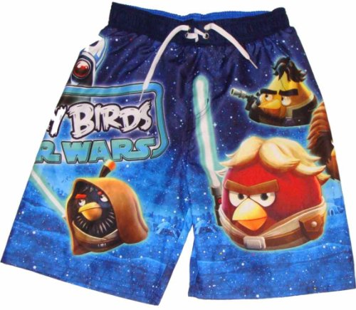 Angry Birds Star Wars Boys Swim Trunks (XL (14/16), Blue) Picture