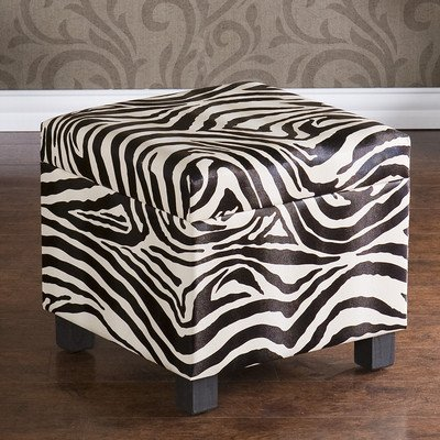 Wilson Zebra Storage Cube Ottoman