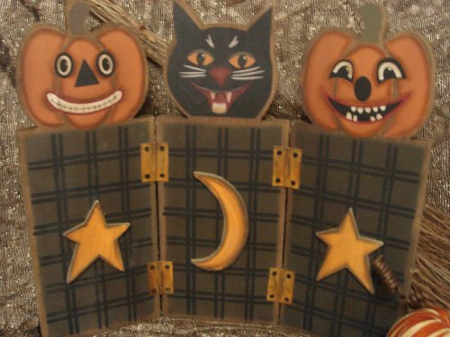 Vintage Halloween Decoration Table Display
