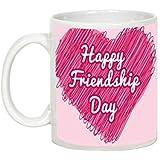 Friendship Day Gifts - AllUPrints Happy Friends Day In Sweet Heart White Coffee Mug - 11oz