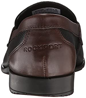 Rockport Men's Classic Lite Penny Loafer, Black/New Brown, 11.5 W US