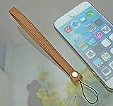 ハンドストラップ の色を選んでください/キャメル スマートフォン iPhone6 Plus iPhone6s Plus  ハンドストラップ  本革 アイフォン レザー モバイル 携帯