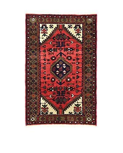 L'Eden del Tappeto Alfombra Hamadan Rojo / Multicolor 75 x 115 cm