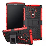 LG G4 Case, Sophia Shop Heavy Duty Tough Rugged Dual Layer Case with Built-in Kickstand, TANK Series Slim Fit Dual Layer Hybrid Armor Protective Case Cover for LG G4 ToughBox Carrier Compatibility AT&T, Verizon, T-Mobile, Sprint, And All International Carriers (Red)