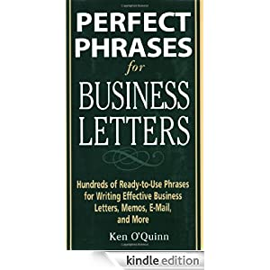 Perfect Phrases For Business Letters Perfect Phrases