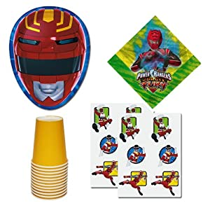 Power Rangers Birthday Party supplies Pack, up to 8 guests, plates, cups, napkins, tattoos party favors