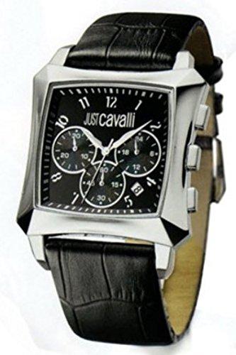 Just-Cavalli-R7271606025-Reloj-de-caballero-de-cuarzo-correa-de-piel-color-negro
