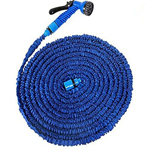 Review Agooding 100FT Expanding Hose Magic Flexible Expandable Garden Water Hose With 7 Functions Sp...
