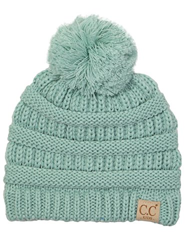 H-6847-54 Children's Pom Beanie - Mint