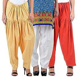 NumBrave Women's Relaxing Cotton Patiala Salwar