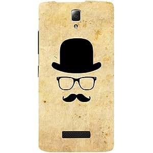 Casotec Mustache HappyDesign Hard Back Case Cover for Lenovo A2010