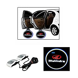 SOM'S 424 - PREMIUM QUALITY CAR LOGO LED SHADOW WELCOME LIGHT DOOR PROJECTOR (2 PCS) FOR Mahindra Ssangyong Rexton RX7 (Diesel)