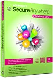 Webroot SecureAnywhere Essentials 2012, 3 User, 1 Year Subscription (PC)