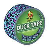 Duck Brand 281518 Printed Duct Tape, Blue Leopard, 1.88 Inches x 10 Yards, Single Roll