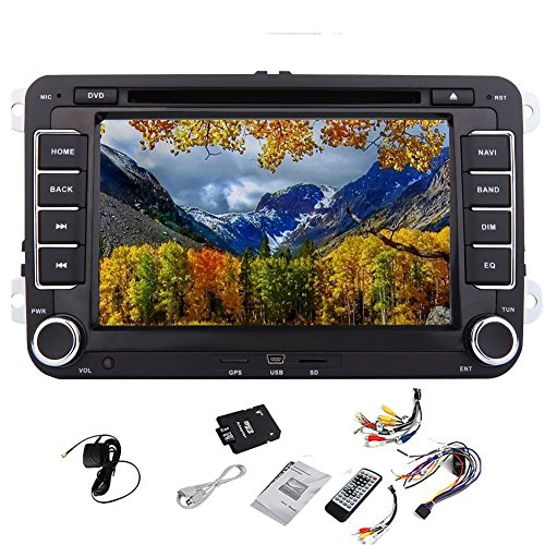 Bluetooth-Auto-DVD-Spieler-Video-Pupug-Auto-DVD-GPS-Logo-Video-Player-GPS-Autoradio-Navigation-Stereoradio-Headunit-Fr-AUX-VW-Volkswagen-Golf-Amarok-T5-Jetta-Video-EOS-Caddy-Polo-7-Zoll-PC-Auto-Radiog