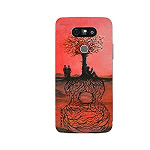 iSweven printed lgG5_3156 painting of Tree Design Multicolored Matte finish Back case cover for LG G5