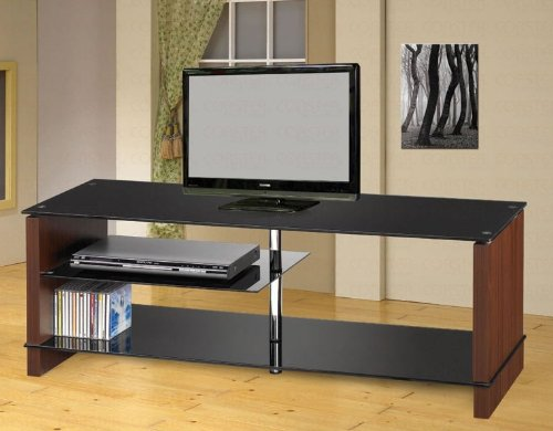 Cheap Plasma LCD TV Stand with Chrome Accents in Black Finish (VF_AZ00-46756×29932)