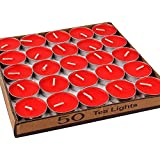 New Arrival - Set Of 50 Tealight Candles (Red)