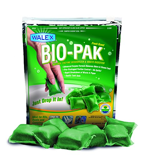 Walex BIO-11530 Bio-Pak Natural Holding Tank Deodorizer and Waste Digester, (Pack of 10) (Rv Black Water Cleaner compare prices)