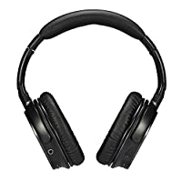 Ausdom Wireless Over Ear Bluetooth Headphones On Ear 3D Surround Stereo Headphones Headsets with Mic & Volume/ Track Control, 3FT Male to Male 3.5mm Audio Cable for Media Streaming and Hands-Free Calling (M06, Black) from AUSDOM