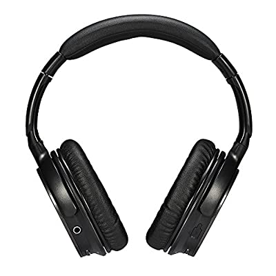 Ausdom Bluetooth Headphones Wireless/ Wired Over Ear 3D Surround Stereo Headphones On Ear Headsets with Mic & Track/ Volume Control for Audio Streaming and Hands-Free Calling (M06, Black)