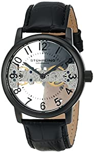 Stuhrling Original Men's 680.01 Legacy Analog Display Mechanical Hand Wind Black Watch