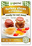GoPicnic Turkey Slices & Cheddar, 6-Ounce (Pack of 6)