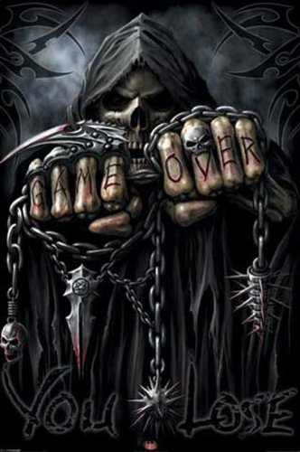 Empire 175823 Game Over Reaper, Spiral, Fantasy-Poster - 61 x 91.5 cm