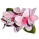 HAWAIIAN SILK PINK PLUMERIA HAIR FLOWER CLIP