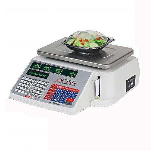 Detecto DL1060 Deli Scale with Integral Printer, 60 lb. x 0.02 lb. (Deli Printer compare prices)