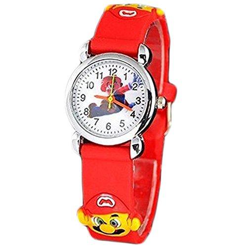 New 3D Cartoon Super Mario Watch Children Kids Girls Boys Quartz Wrist Watches (Watches D Mario compare prices)