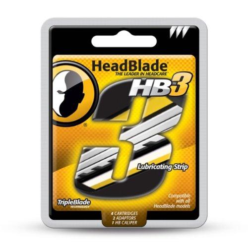 HeadBlade HB3 Triple Blade Refill Razor Cartridges (Headblade Blades compare prices)