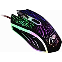 TOOPOOT 2400 DPI 6 Button Optical LED Light USB Wired Gaming Mouse Mice For PC Laptop