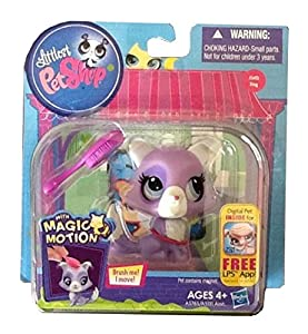 Littlest Pet Shop Magic Motion with Magnetic Hair Brush Dog 3413 - Very Rare