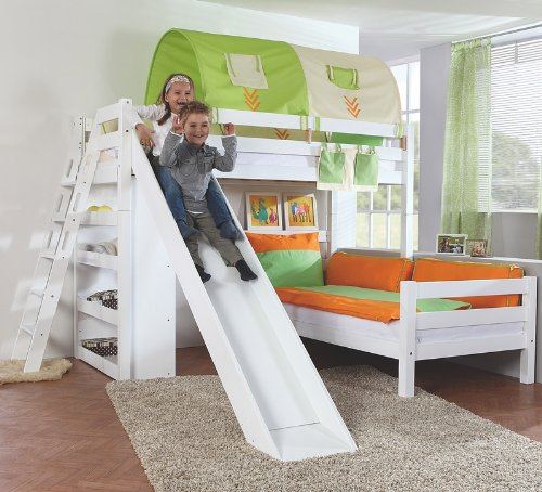 Etagenbett Set »4 DREAMS« in Buche massiv weiß lackiert online bestellen