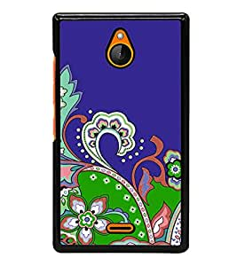 printtech Floral Pattern Back Case Cover for Nokia XL