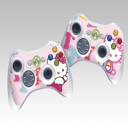 Hello kitty Protective Skin Decorative Decal for XBOX 360 Controller (2pcs