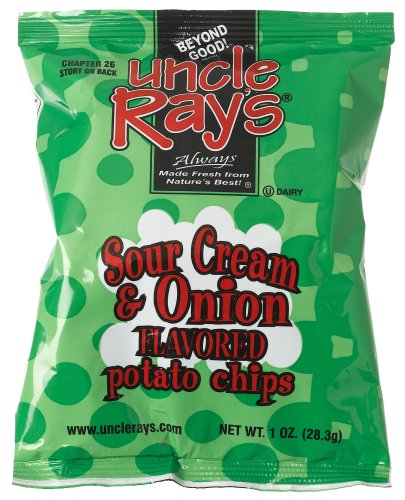 Buy Uncle Ray's Sour Cream & Onion Potato Chips, 1-Ounce Bags (Pack of 96) (Uncle Ray's, Health & Personal Care, Products, Food & Snacks, Snacks Cookies & Candy, Snack Food, Chips, Potato Chips)