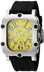 CROTON Mens CN307529BSYL INDUSTRIAL Analog Display Quartz Black Watch