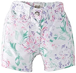 French Connection Kids Girls' Shorts (FCN1758_Summer White_5-6Y)