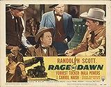 """Rage at Dawn 1955 Authentic 11"""" x 14"""" Original Lobby Card Randolph Scott Western"""