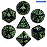 Call of Cthulhu Official CoC Dice Set (コールオブクトゥルフ ダイスセット ブラック&グリーン) [正規輸入品] ランキングお取り寄せ