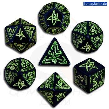 Call-of-Cthulhu-Black-and-Green-Dice-Set-of-7