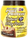Pure Protein 100 % Natural Whey Protein, Rich Chocolate, 1.6 Pound Tub