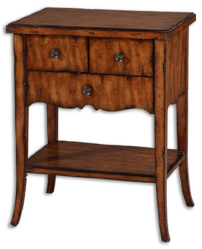 Sale cheap Uttermost Carmel End Table with Drawers Part: 24140 With Big Deal
